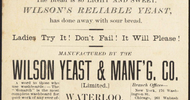 vintage ad for yeast, potato yeast, hop yeast