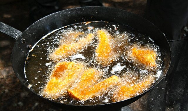 frying fish in cast iron skillet, boiling fish, broiling fish, dressing fish