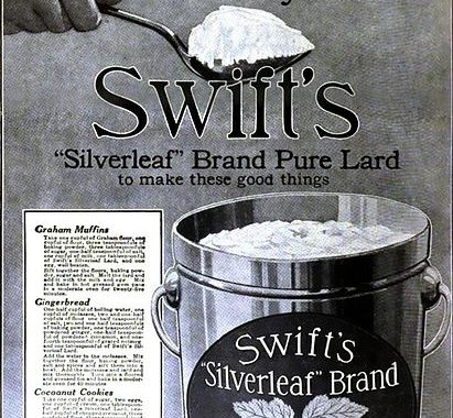 1916 Advertisement for Pure Lard
