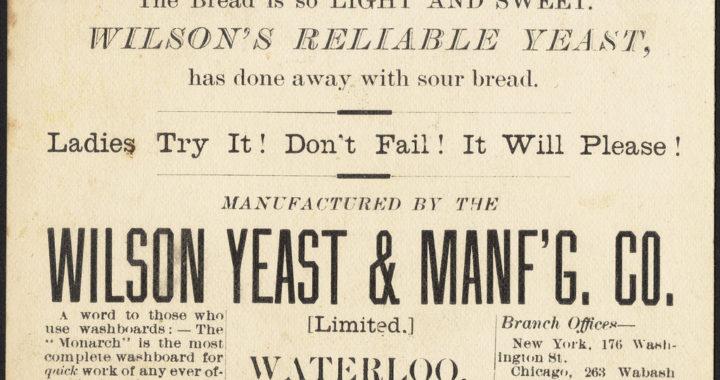 vintage ad for yeast, potato yeast, hop yeast